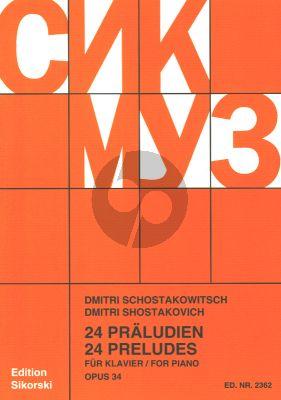 Shostakovich 24 Preludes Op. 34 Klavier