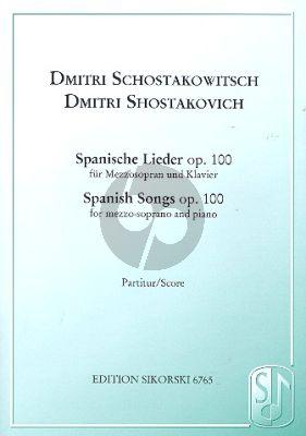 Spanische Lieder Op.100 Mezzo-Sopr.-Piano
