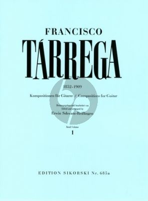 Tarrega Kompositionen Vol.1 Gitarre (Erwin Schwarz-Reiflingen)