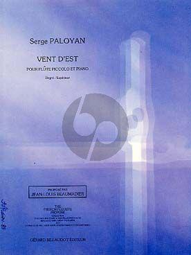 Paloyan Vent d'Est pour Piccolo et Piano (superieur)