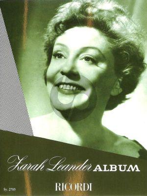 Zarah Leander Album Gesang und Klavier