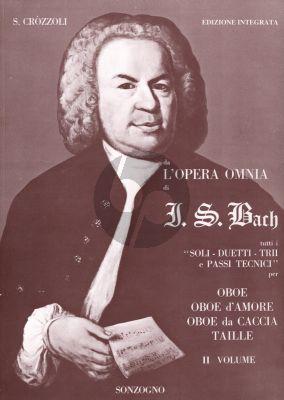 Bach L'Opera Omnia Vol.2 Tutti I Soli Duetti Trii E Passi Tecnici Oboe, Oboe d'Amore, Oboe da Caccia, Taille (Edizione Integrata S. Crozzoli)