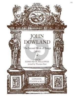 Dowlnad Second Book of Lute Songs (1600) (Fellowes/Dart) (Voice-Piano or Lute)