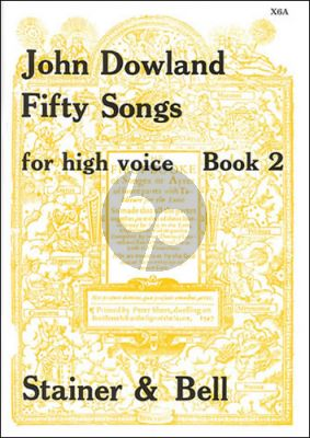 Dowland 50 Songs Vol. 2 High Voice (edited by Edmund Fellowes)