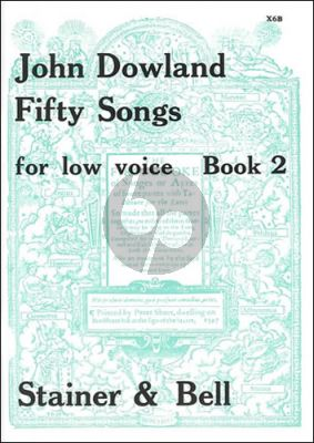 Dowland 50 Songs Vol. 2 Low Voice (edited by Edmund Fellowes)