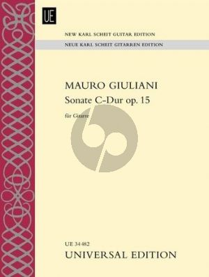 Giuliani Sonata C-major Op.15 Guitar (New Karl Scheit edition)