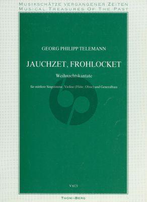 Telemann Jauchzet Frohlocket Gesang-Violine-Bc