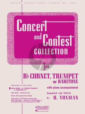 Concert and Contest Collection Bb Cornet or Trumpet or Baritone (treble Cleff) Trompet solopartij