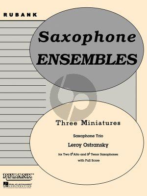 Ostransky 3 Miniatures 3 Saxophones (AAT) (Score/Parts)