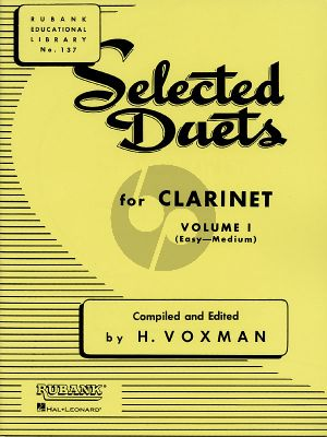 Voxman Selected Duets for Clarinet Vol.1 (Easy-Medium)