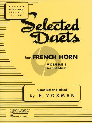 Voxman Selected Duets for French Horn Vol.1 (Easy-Medium)