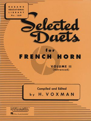Voxman Selected Duets for French Horn Vol.2 (Advanced)