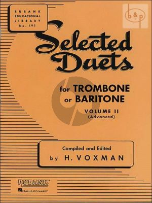 Selected Duets for Trombone or Baritone Vol.2
