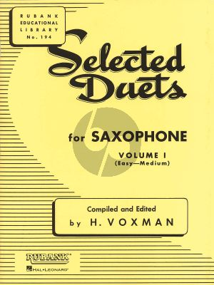 Voxman Selected Duets for Saxophone Vol.1 (Easy-Medium)