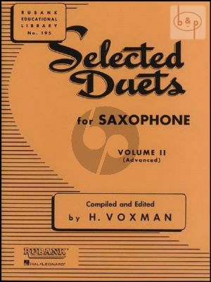 Selected Duets for Saxophone Vol.2