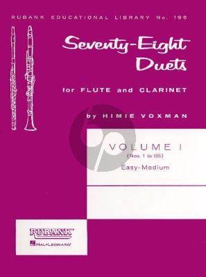 78 Duets Vol.1 (No.1-55) Flute-Clarinet (selected Himie Voxman)