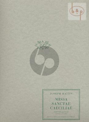 Missa Sanctae Caecilia (Soli[SATB]-Choir-Orch.)