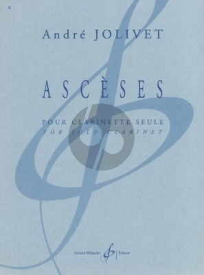 Jolivet Asceses For Clarinet Solo in A or in Bb