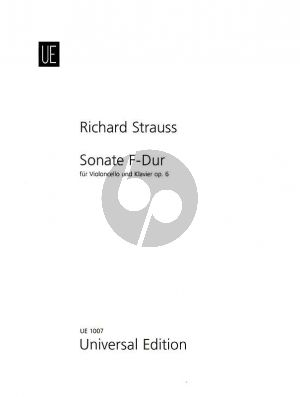 Strauss Sonate F-dur Op.6 Violoncello und Klavier