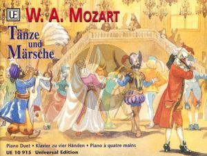 Tänze und Märsche Klavier 4 Hd.