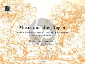 Musik aus Alten Tagen Klavier 4 Handen