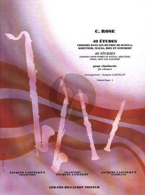 Rose 40 Etudes Vol.1 Choisies dans les oeuvres de Dancla, Kreutzer Mazas, Ries et Schubert (Lancelot)