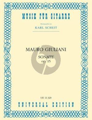 Sonata C-major Op.15 Guitar