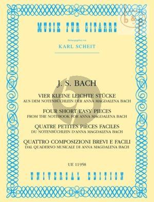 4 Kleine Leichte Stucke aus dem Notenbuchlein von Anna Magdalena Bach)