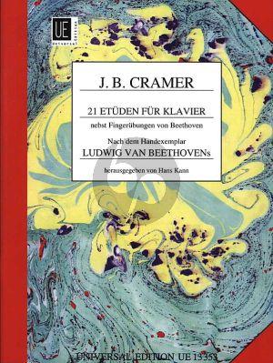 Cramer 21 Etuden nebst Fingerubungen von Beethoven Klavier (nach dem Handexemplar Ludwig van Beethoven's) (herausgegeben von Hans Kahn)