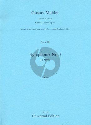 Mahler Symphony No.3 Alto-Boys' choir-Female choir and Orchestra) Score (Erwin Ratz)