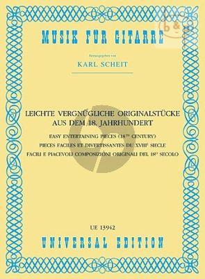 Leichte Vergnugliche Originalstucke aus dem 18.Jahrhundert nach einen anonymen Tabulatur (edited by Karl Scheit)