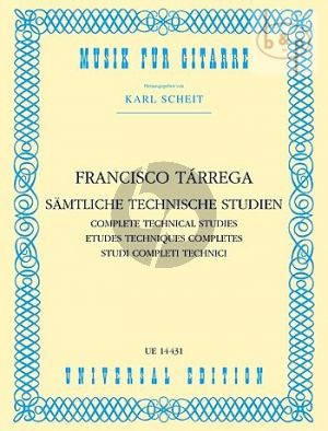 Tarrega Samtliche Technische Studien Gitarre (Karl Scheit)