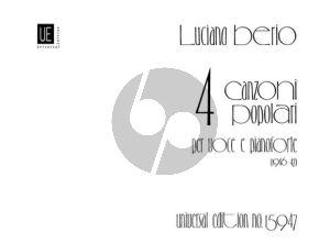 Berio 4 Canzoni Populari (1946-47) Voice-Piano