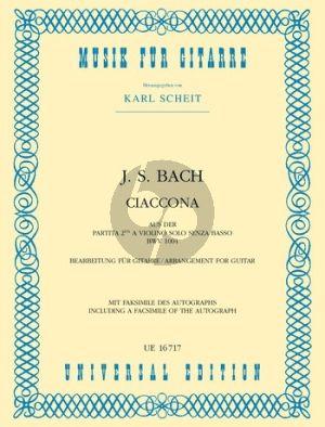 Bach Chaconne from Partita d-minor BWV 1004 (Violin) (transcr. Karl Scheit) mit Faksimile des Autographs