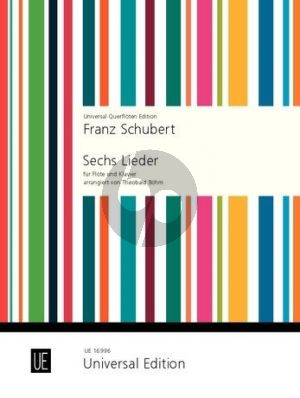 Schubert 6 Lieder Flote-Klavier