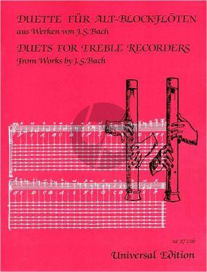 Duette fur 2 Altblockfloten aus Werken von J.S.Bach (Fumio Kitamika)