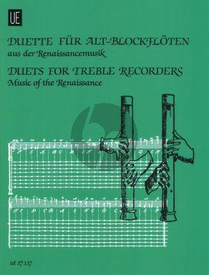 Duette fur Alt-Blockfloten aus der Renaissancemusik