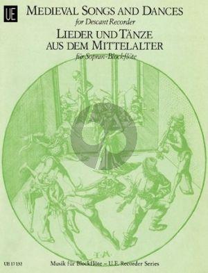 Album Lieder und Tanze aus dem Mittelalter Sopran Blockflote
