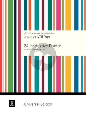 Kuffner 24 instruktive Duette Opus 200 2 Klarinetten (in progressiver Folge)