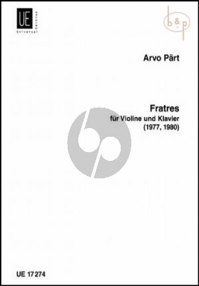 Fratres Violine-Klavier
