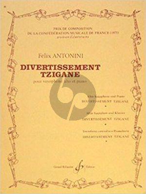 Antonini Divertissement Tzigane Saxophone alto et Piano