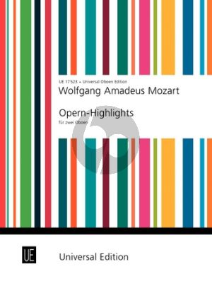 Mozart Opera Highlights 2 Oboes