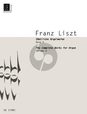 Liszt Samtliche Orgelwerke Vol.9 Gesang mit Orgel