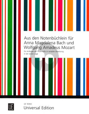 Album From the Notebooks for A.M.Bach and Mozart Cello Solos, Cello Duets and Cello-Piano (For beginners on the violoncello (in variable setting) in the first position) (Herausgegeben von Alfred H. Bartles)