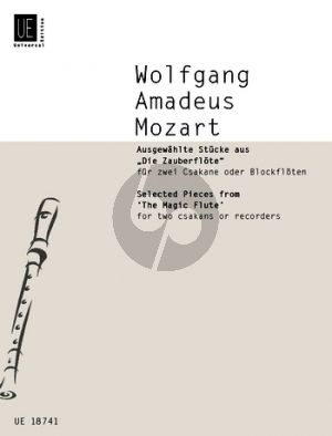 Mozart Selected Pieces from The Magic Flute 2 Csakans or Descant Rec.