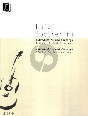 Boccherini Introduktion und Fandango fur 3 Gitarren (Herausgegeben von Heinz Wallisch) (1. Gitarre spielt aus der Partitur)