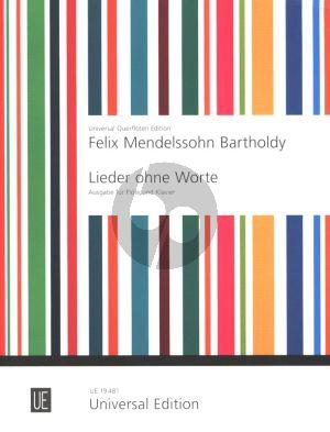 Mendelssohn Lieder ohne Worte fur Flote und Klavier (Barge-Braun)