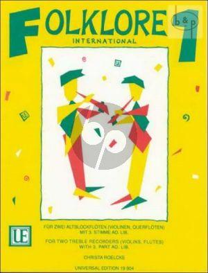 Folklore International Vol.1 (2 Treble Rec.) [Vi./Fl.])