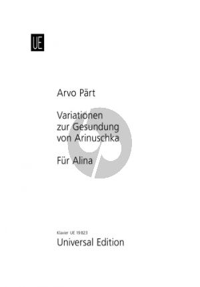 Variationen zur Gesundung von Arinuschka - Für Alina Piano
