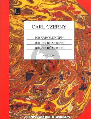 Czerny 100 Erholungen Klavier